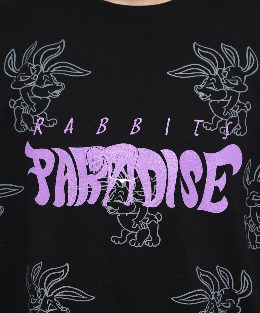 Paradise for Rabbits Tee - Black