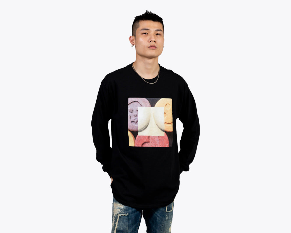ECSTASY BY EMIR SHIRO LONGSLEEVE T-SHIRT – BLACK