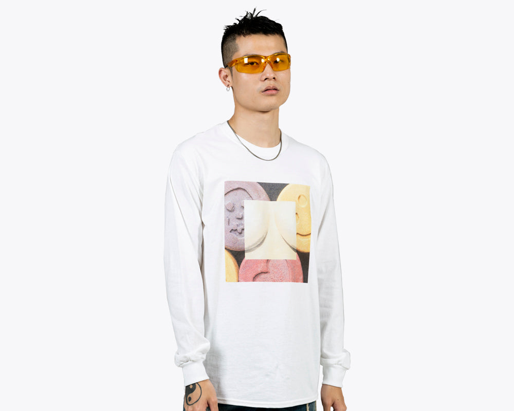 ECSTASY BY EMIR SHIRO LONGSLEEVE T-SHIRT – WHITE