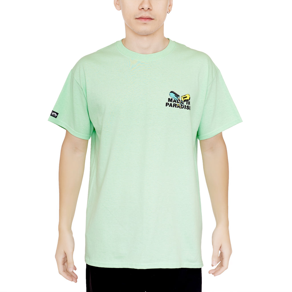 PILL COSBY TEE - PALE GREEN