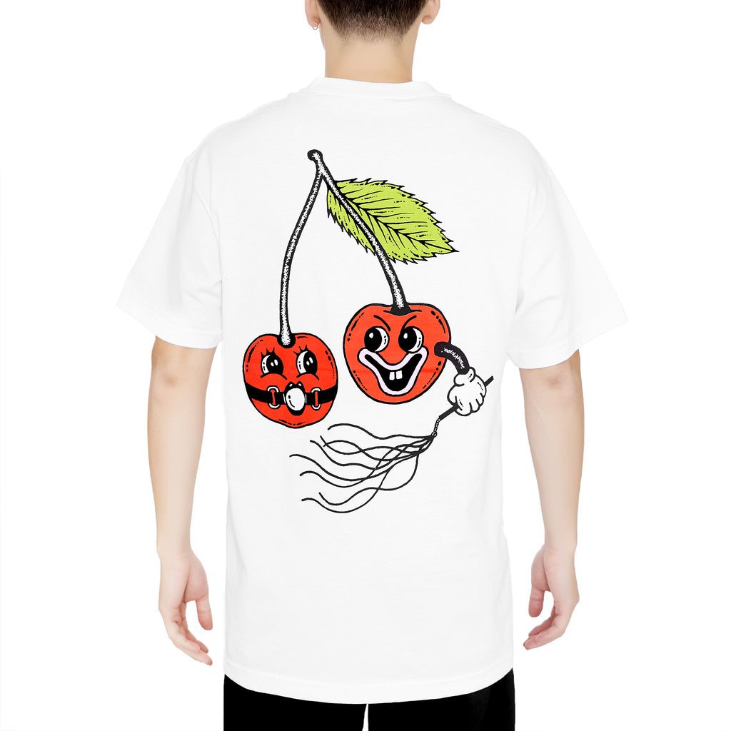 POP THE CHERRY TEE - WHITE