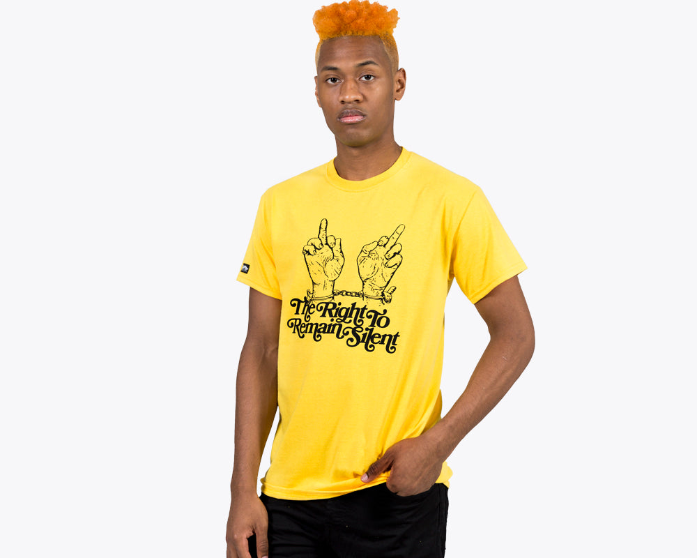 SILENT NIGHT TEE - YELLOW