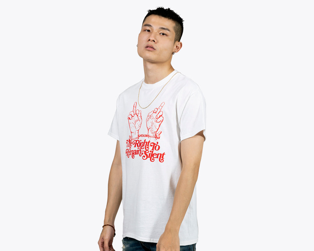 SILENT NIGHT TEE - WHITE