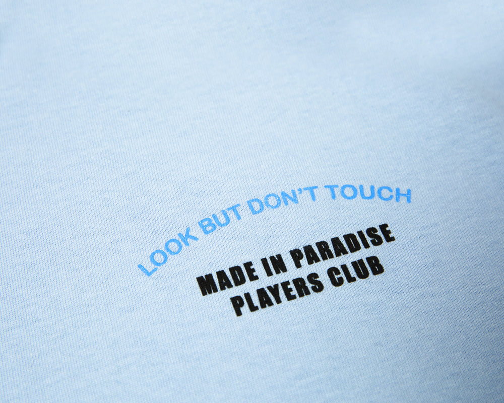 PLAYERS CLUB TEE - PALE BLUE