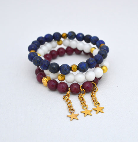 Patriot Stack Bracelet Set of 3
