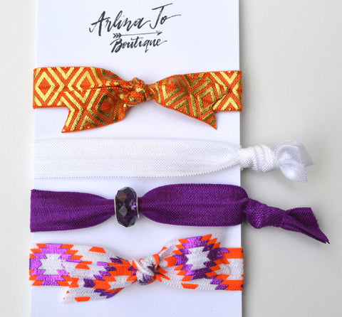 Aztec Bead Hair Ties