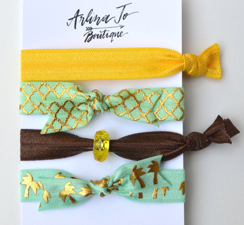 Palm Trees Hair Tie Bracelets