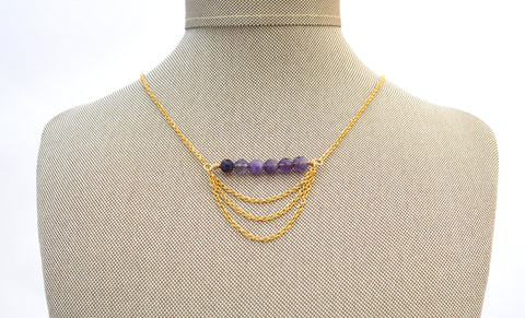Evelyn Chandelier Amethyst Necklace
