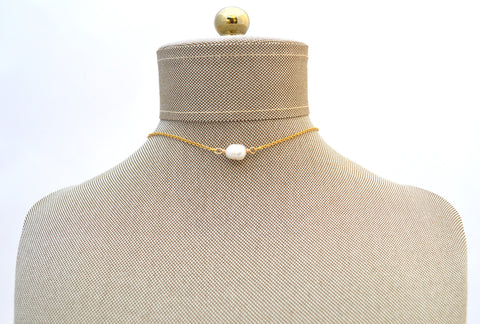 Farah Pearl Choker Necklace
