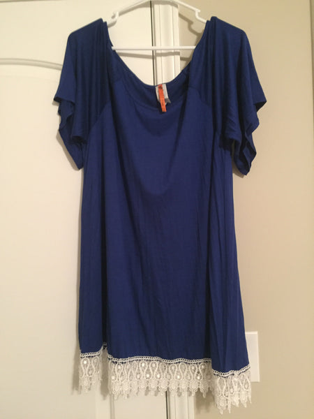 Blue lace trimmed tunic (3XL)