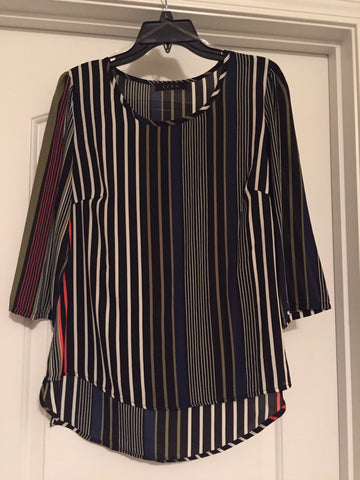 Vertical striped blouse (large)