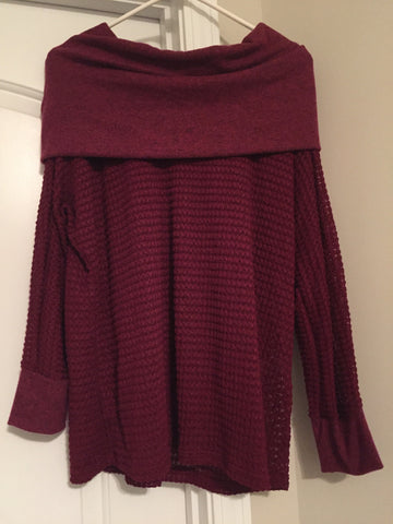 Burgundy sweater (large)