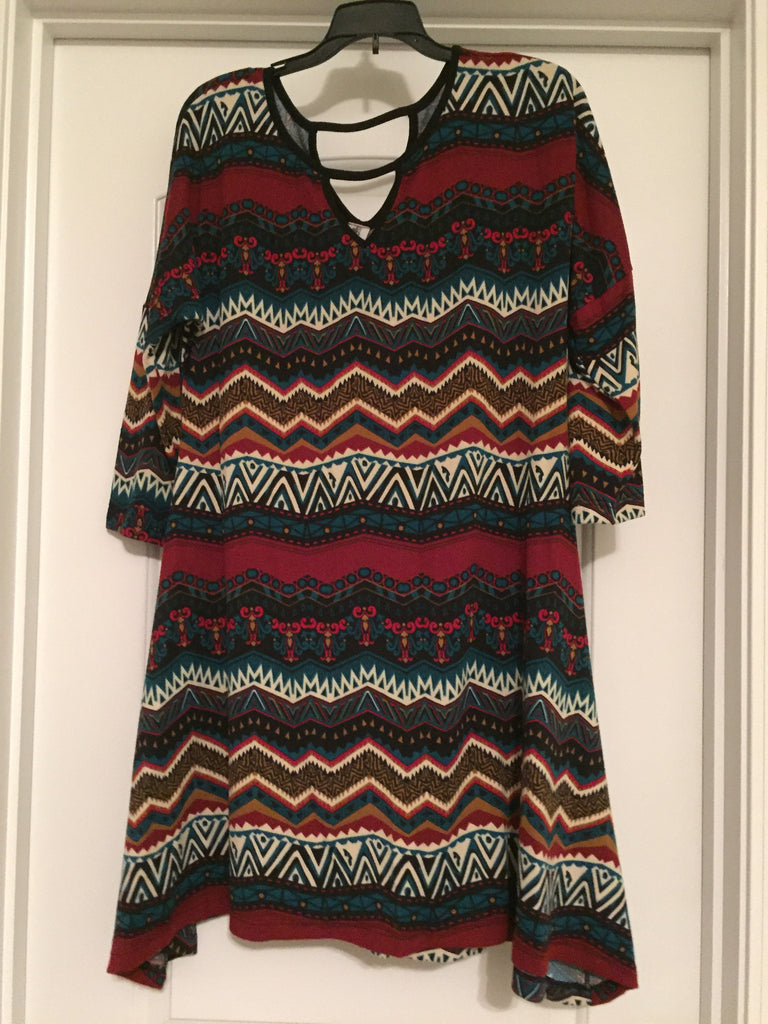 Tribal print dress (large)