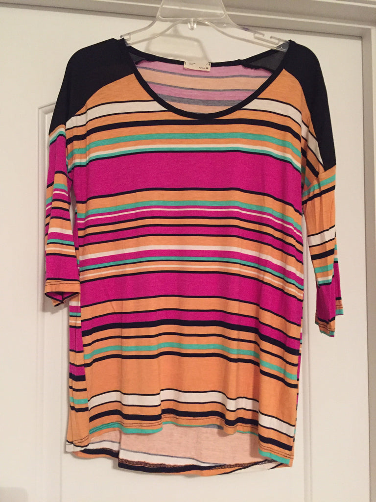 Colorful striped top (medium)