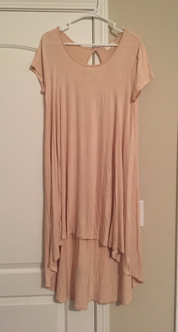 Beige high-low dress (XL)