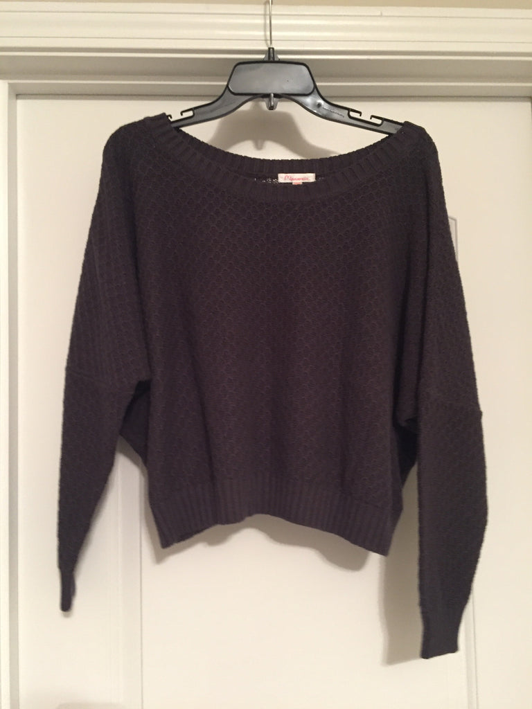 Charcoal batwing sweater (one size)