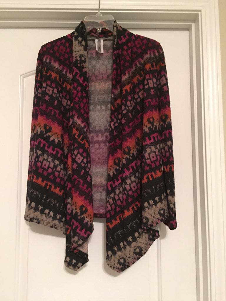 Tribal print cardigan (small)