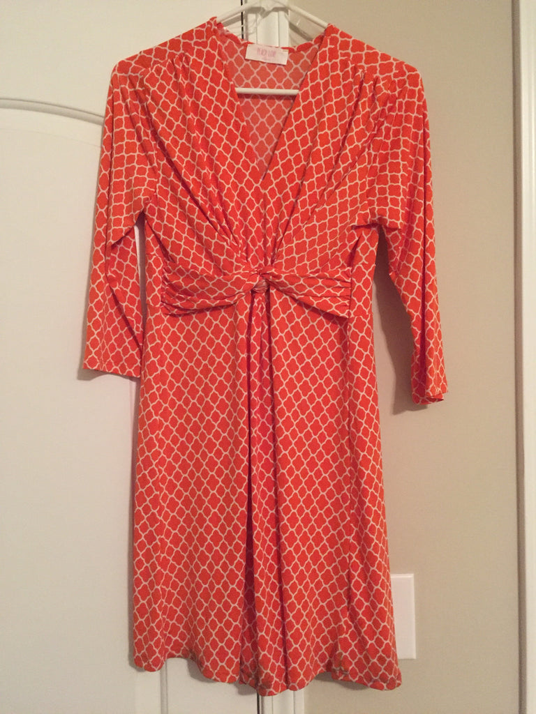 Orange pattern dress (large)