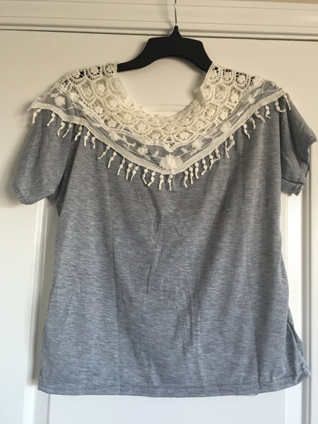 Crochet cape blouse