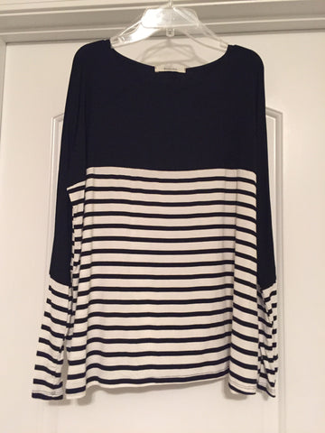 Black/white striped top (medium)