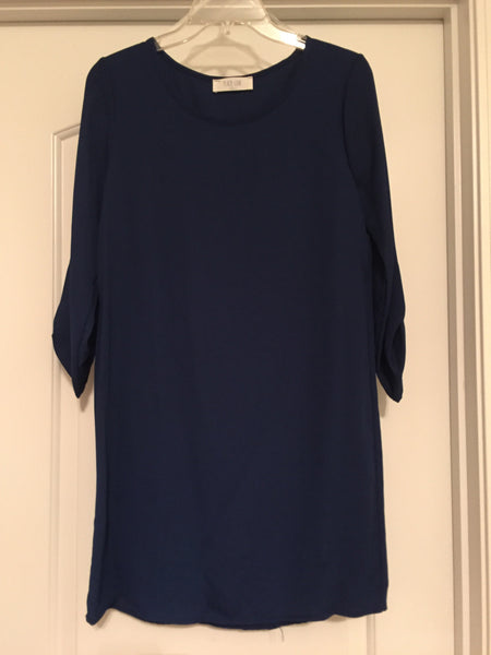 Solid blue dress (small)