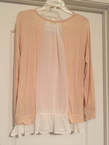 Sheer back apricot blouse (medium)