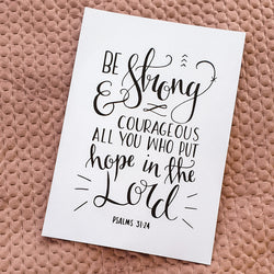 Be strong and courageous - A4