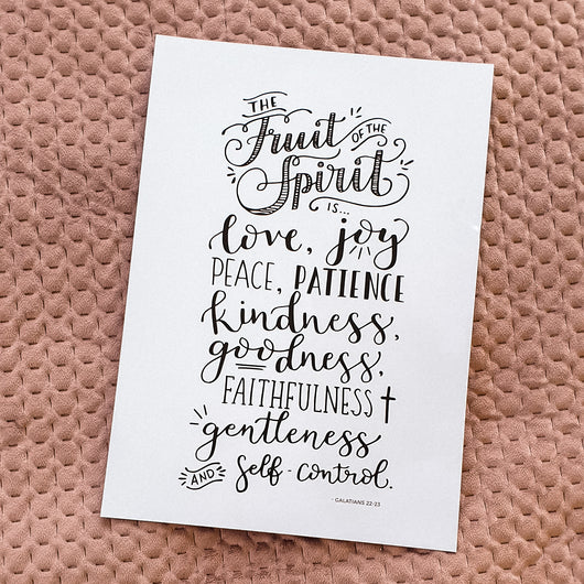 Fruits of the spirit - A4