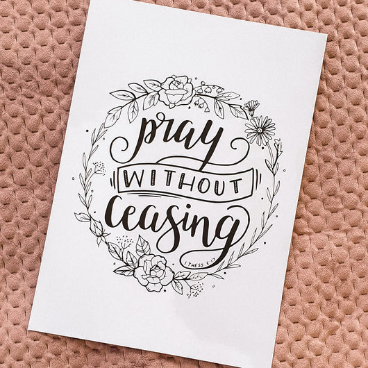 Pray without ceasing - A4