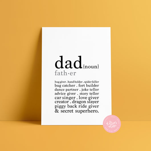 Dad - definition poster