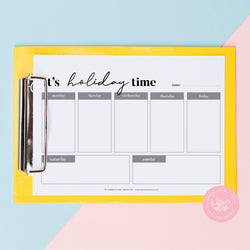 It's Holiday Time - Printable Planner