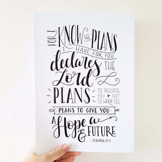 I know the plans - Jeremiah 29:11