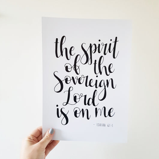 Spirit of the Sovereign Lord - Isaiah 61:1