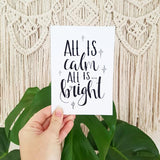 All is Calm - Gift Card