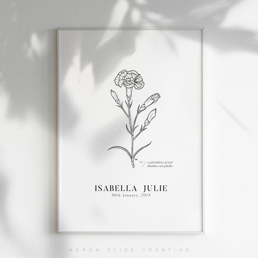 *NEW* Birth Flower Personalised Poster