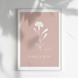 *NEW* Birth Flower Personalised Poster - COLOUR