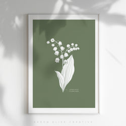 *NEW* Birth Flower - Monthly Poster - COLOUR
