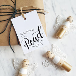 Want, Need, Wear, Read Christmas gift tags