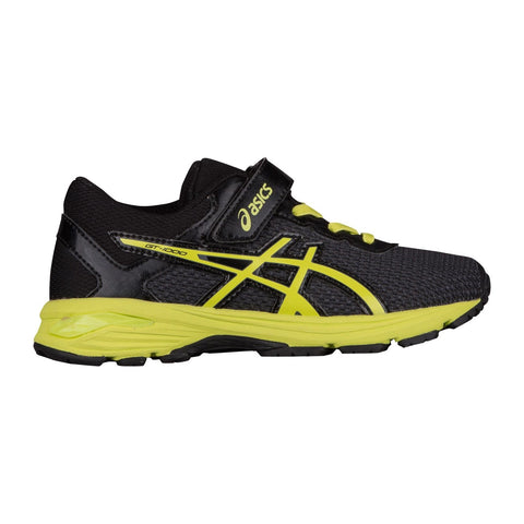 GT-1000 6 PS BLACK/ ENERGY GREEN (BOYS) from Asics - Ten Feet Tall Shoes