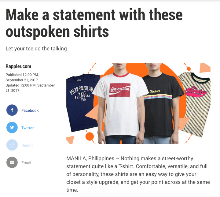 Rappler // Make A Statement With These Outspoken Shirts