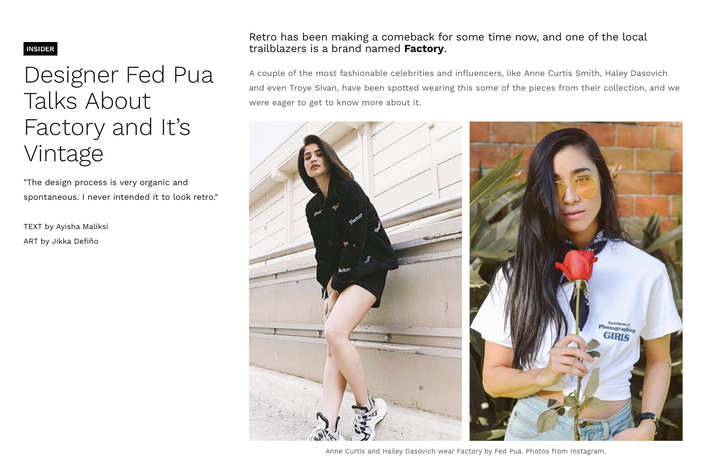 Stail PH // Designer Fed Pua Talks About Factory And It's Vintage