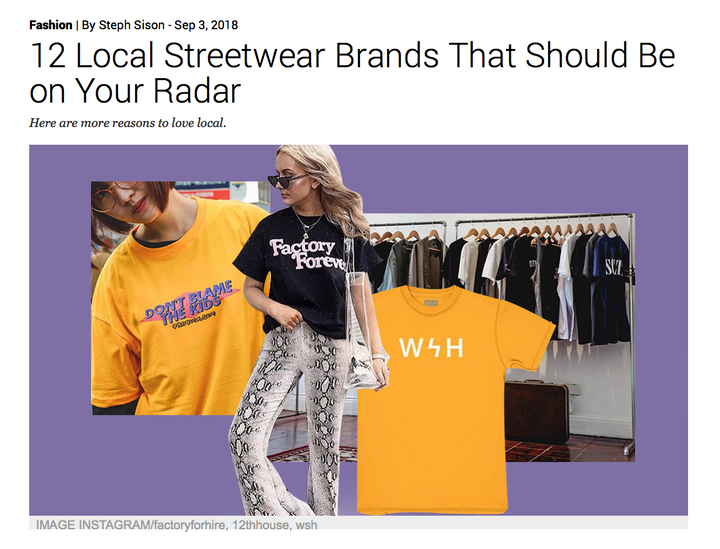 Preview Magazine // 12 Local Streetwear Brands That Should Be On Your Radar