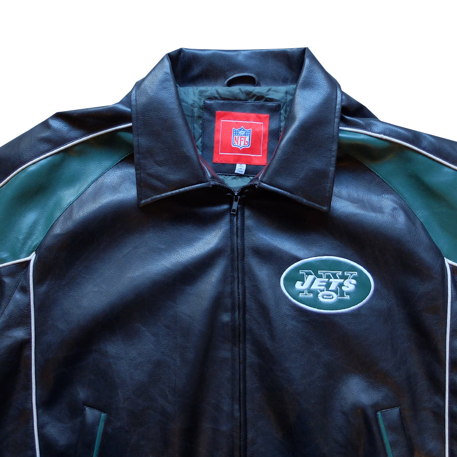 NFL New York Jets Leather Jacket - XL