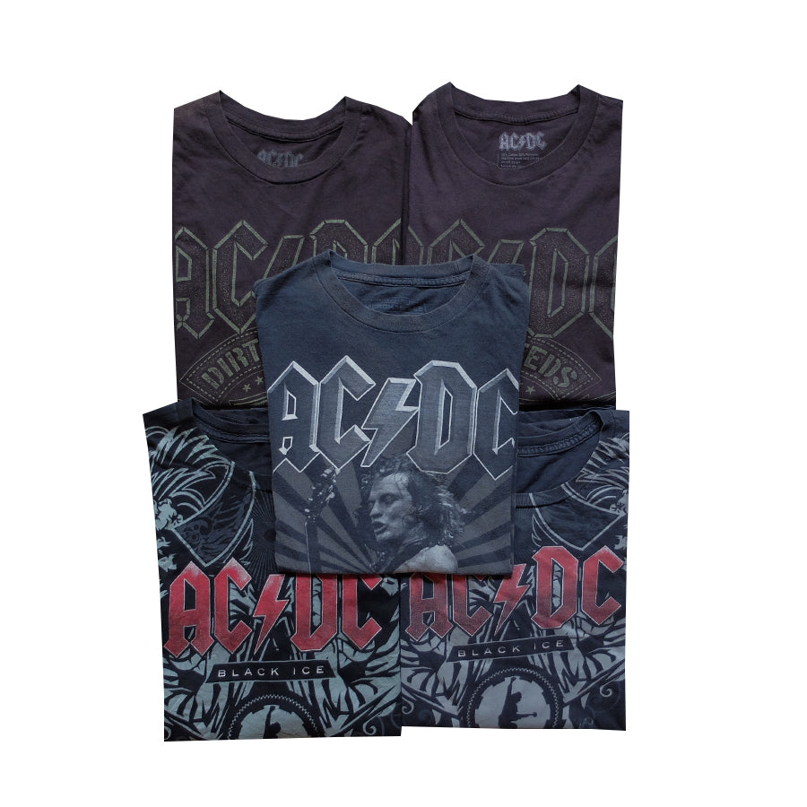 AC/DC Bundle of 5 Tees - S-M