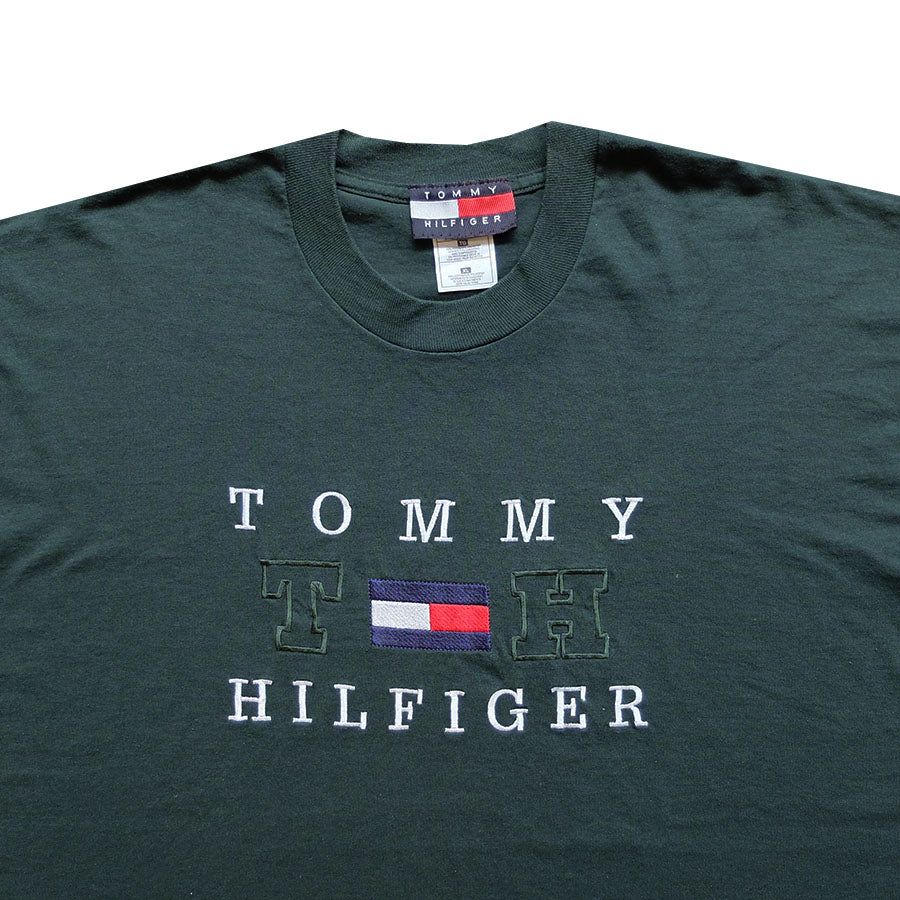 90s Tommy Hilfiger Embroidered Tee - XL