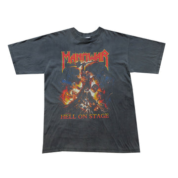 Manowar Hell On Stage Europe Tour Tee - L