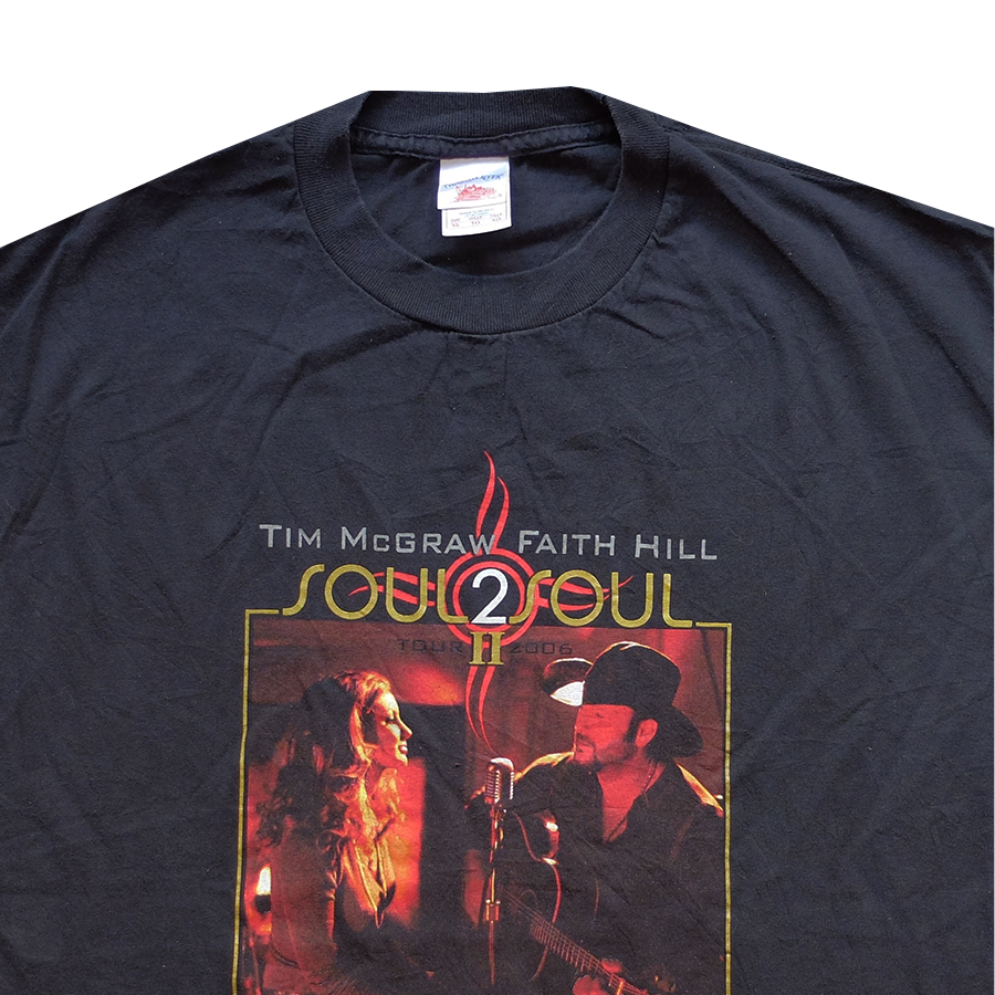 2006 Tim McGraw and Faith Hill Soul 2 Soul Tour Tee - XL