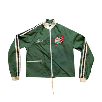 80s Burien Imports Embroidered Racing Jacket - S
