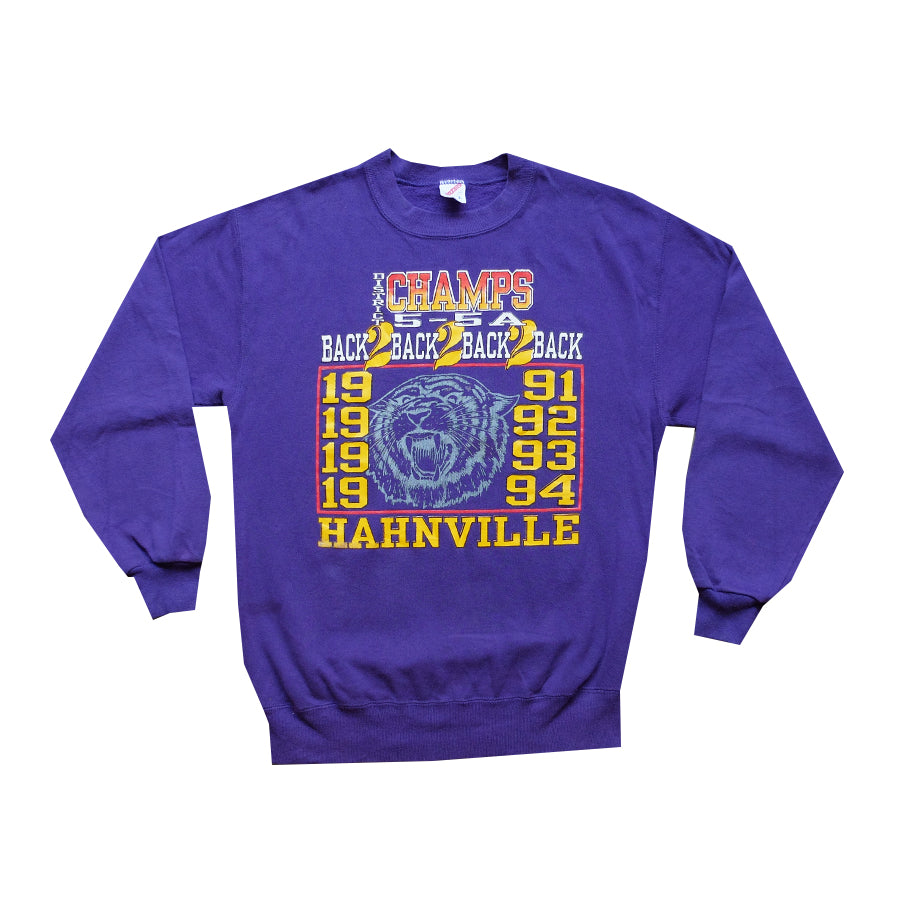 1991-1994 Hahnville District Back 2 Back Champs Crewneck - L