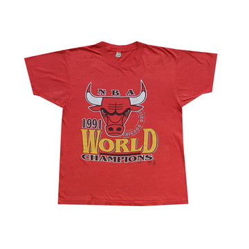 1991 NBA Chicago Bulls World Champions Tee - L